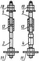Болты фундаментные составные, размер резьбы М24-М64