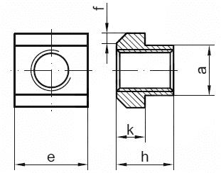 DIN 508 Гайка для Т-образных пазов, пазовый сухарь