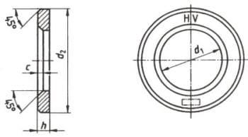 DIN 6916 Шайбы высокопрочные закалённые под высокопрочные болты и гайки, EN 14399-6