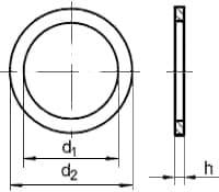 DIN 7603 Кольцо уплотнительное, размеры от 4х8 до 45х52 мм, продажа оптом
