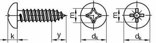 DIN 7981 иГОСТ 10621-80 саморезы сполукруглой головкой