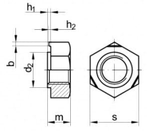 DIN 929 Гайка приварная шестигранная
