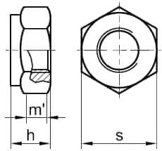 DIN 980 Гайка самостопорящаяся, аналог ISO 7042, ISO 7719, ISO 10513