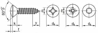Саморезы по металлу DIN 7983, размеры от 2.9 до 6.3 мм