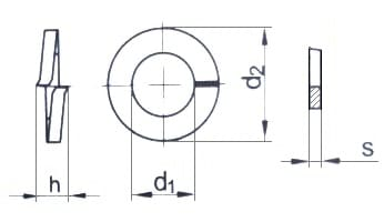 Гровер шайба DIN 127 А пружинная продажа по оптовым ценам, аналог ГОСТ 6402-70