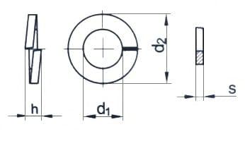 Картинки по запиту Шайба М3 DIN 127
